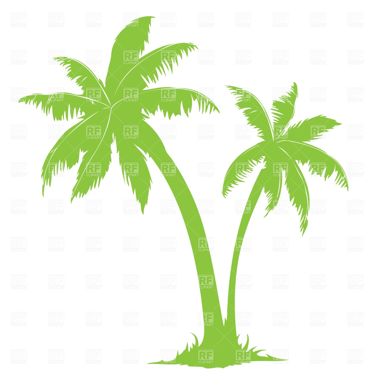 Palm Tree Silhouette Clip Art Free