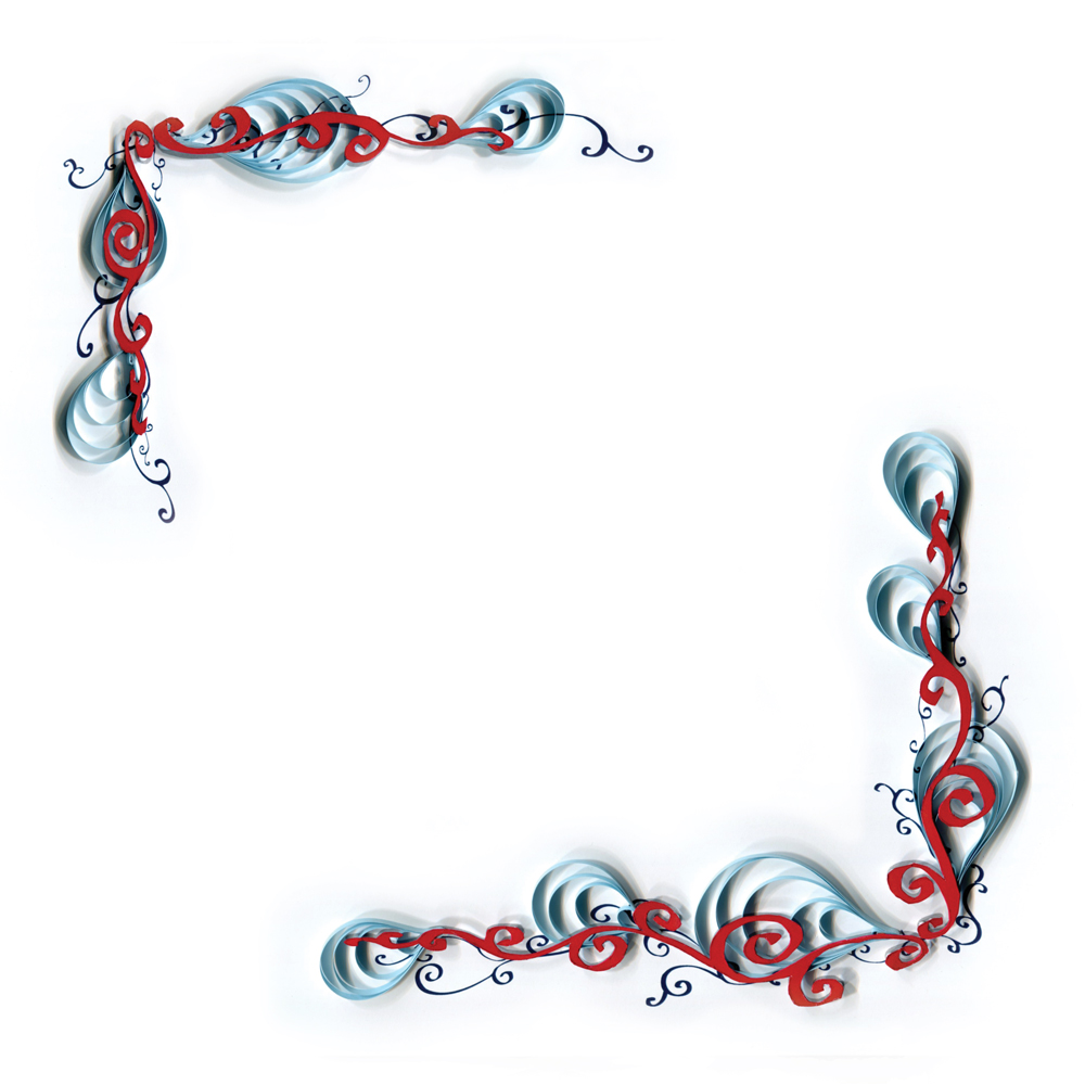 Calligraphy border designs images paper quilling