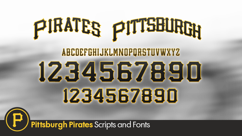 Pittsburgh Pirates Number Font