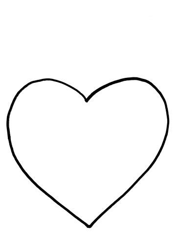 Preschool Valentine Heart Template