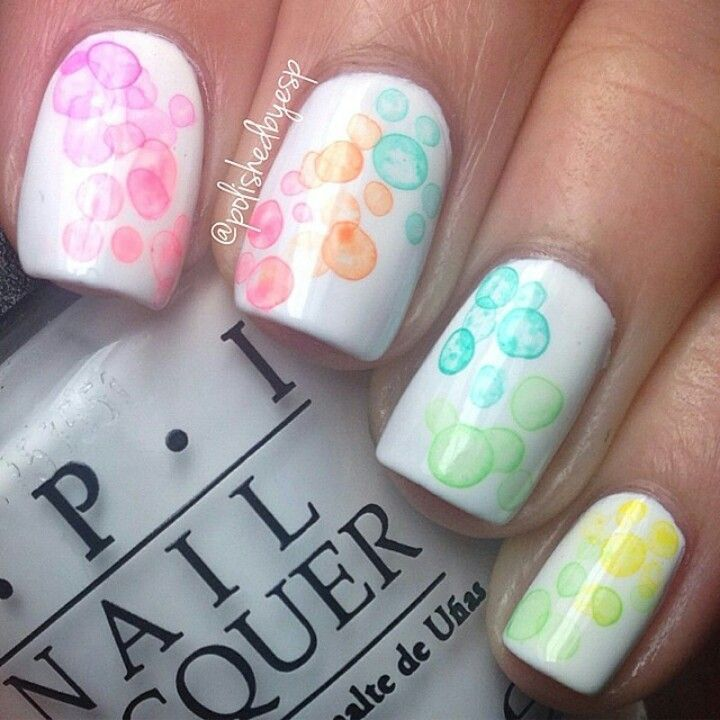 14 Cute Nail Designs With White Base Images
