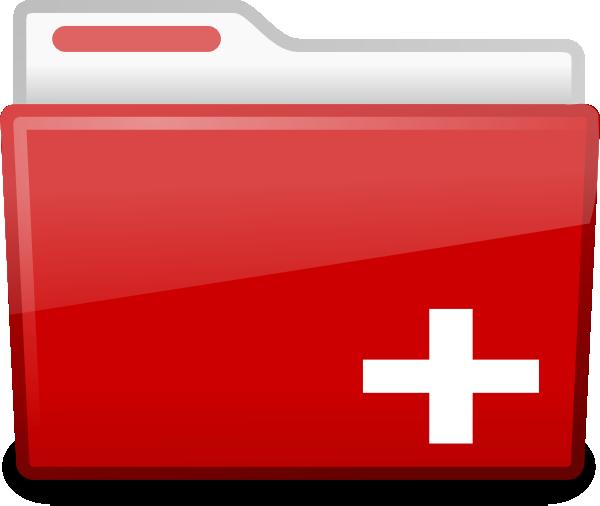 Red Folder Clip Art