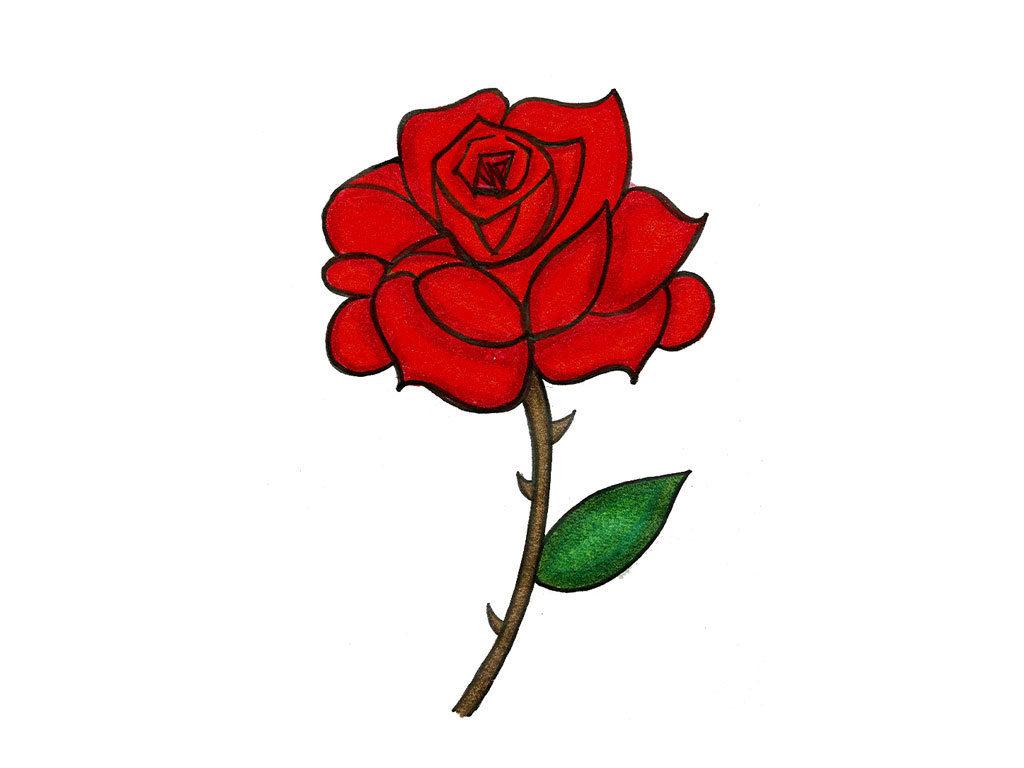 Red Rose Tattoo Designs