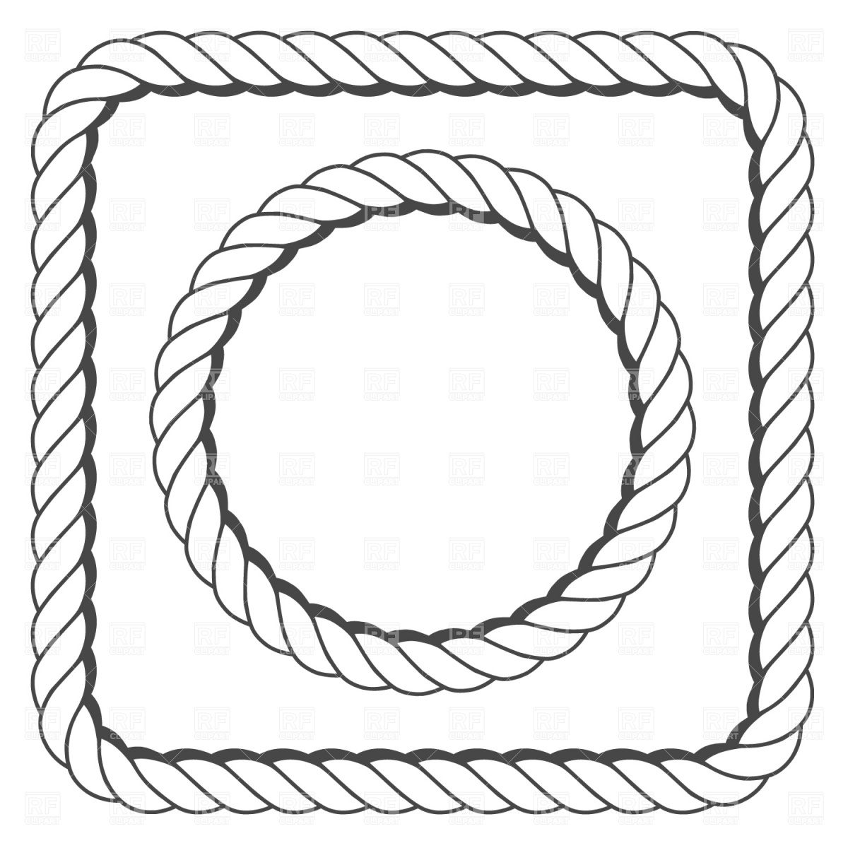 clipart rope border circle - photo #19