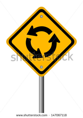 Roundabout Traffic Circle Sign