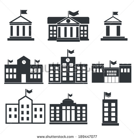 13 University Building Vector Images
