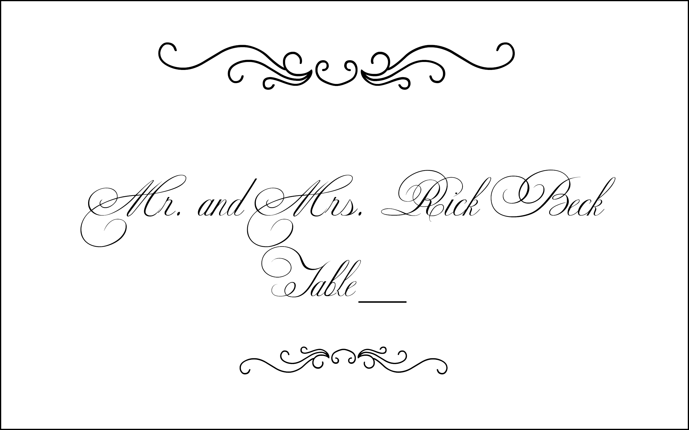 11 Calligraphy Border Designs Images