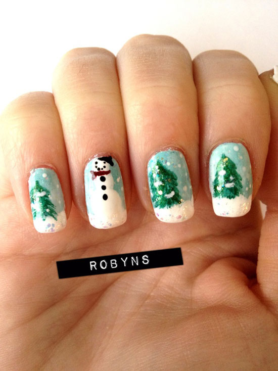 9 Easy Winter Nail Art Designs Images