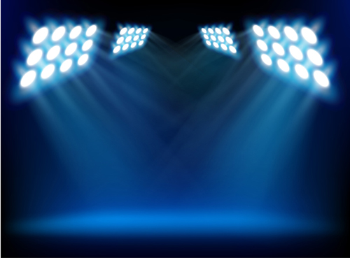 14 Stage Lights PSD Spot Images