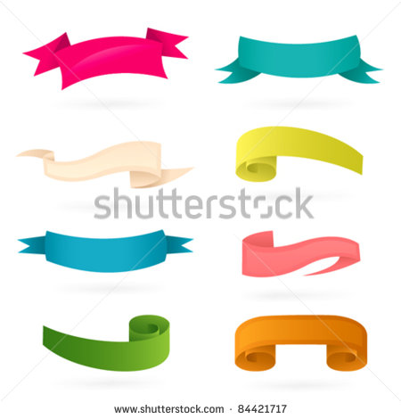 Stock Vector Banners Ribbons