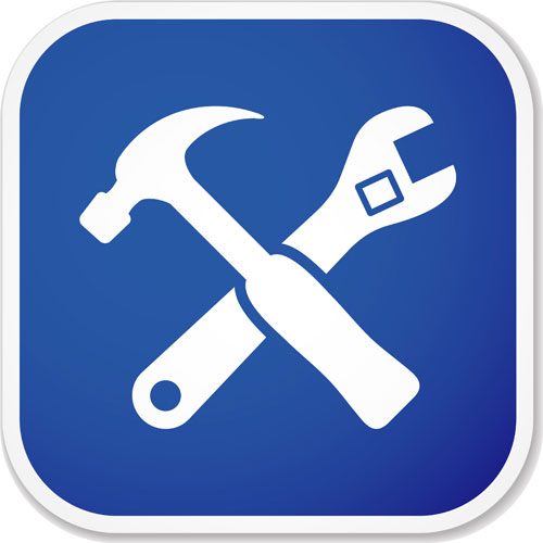 17 Tools Icon Blue Images