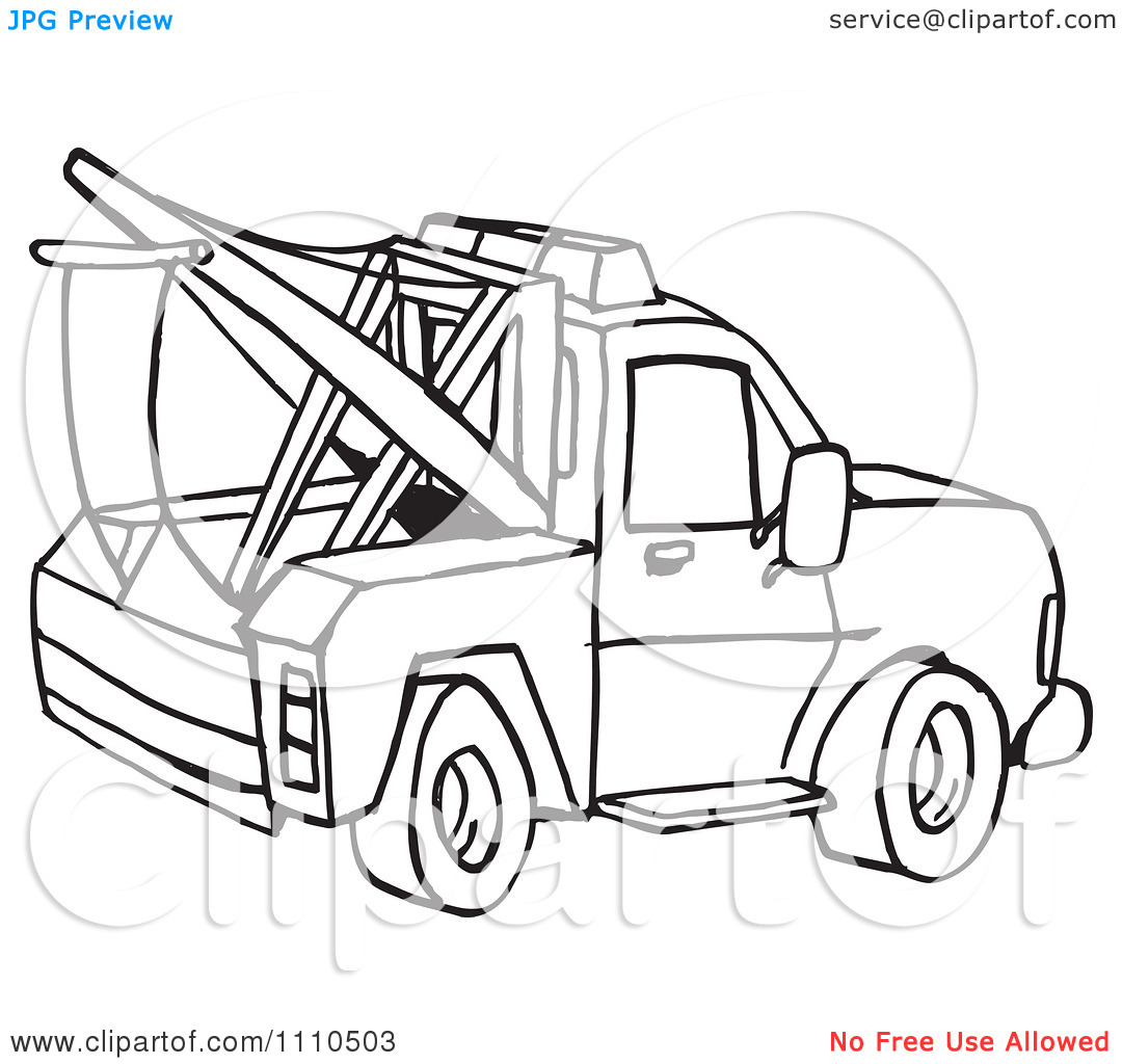 13 Black And White Tow Truck Vector Images
