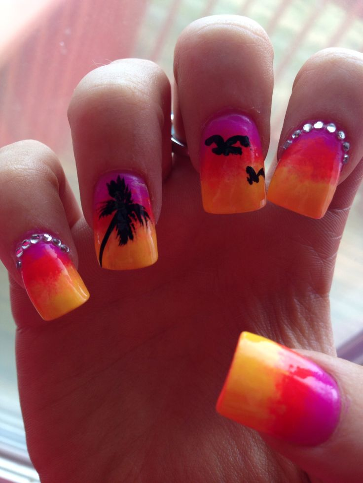 Tropical Nail Art Designs