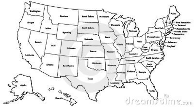 United States Outline Map United States Outline Map Us Map