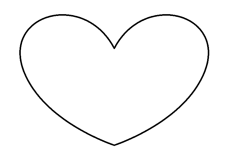 Valentine Heart Template to Print