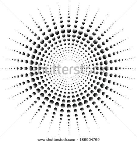 Vector Half Circle Dots