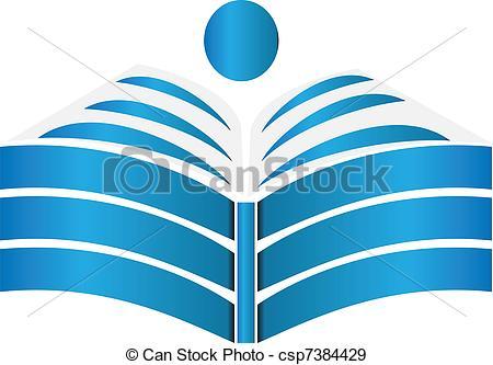 Vector Open Book Clip Art
