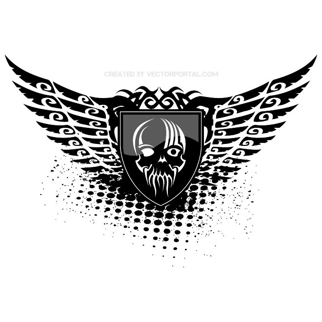 7 Grunge Wings Vector Images