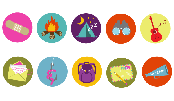 10 Camping Free Vector Badges Images