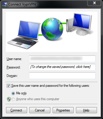 VPN Connection Windows 7