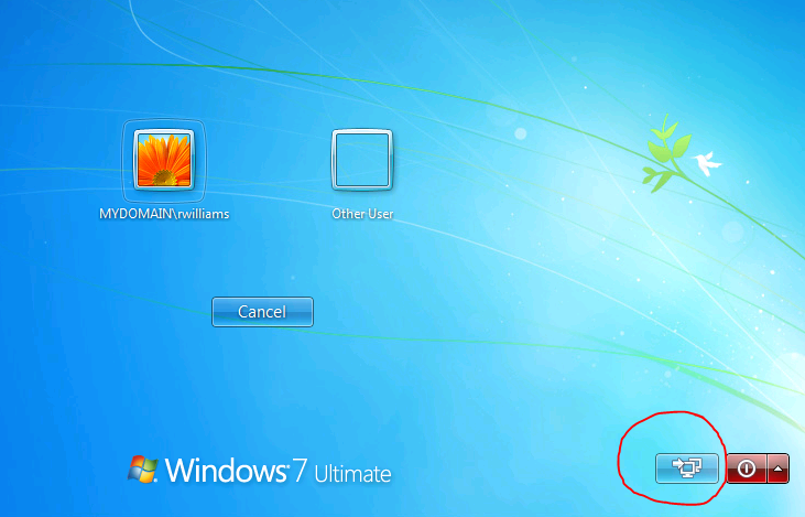 VPN Windows 7 Login Screen