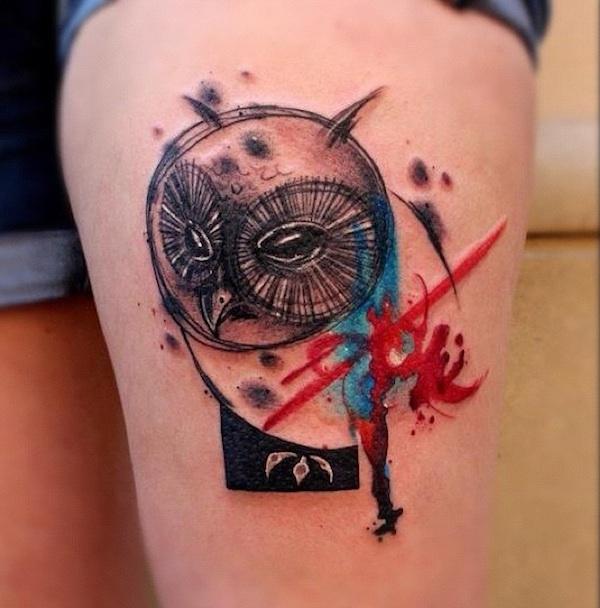 Watercolor Tattoo Art