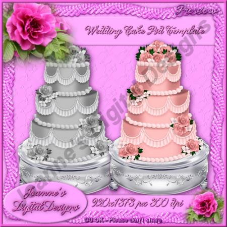 12 PSD Wedding Cake Images