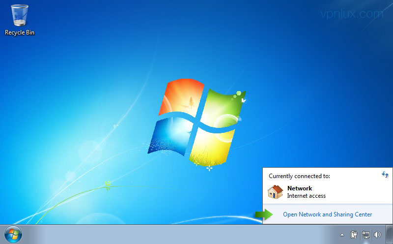 Windows 7 System Tray Network Icon