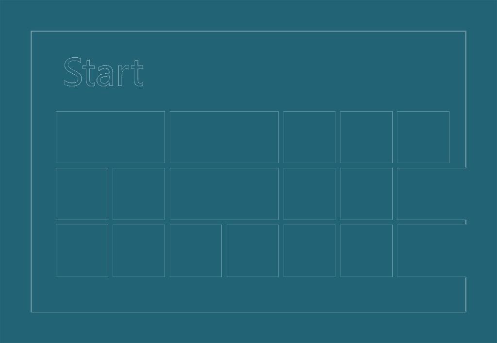 Windows 8 Start Screen Icons