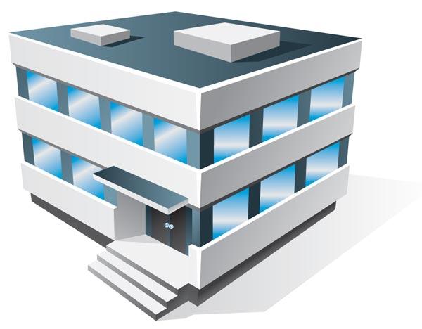 3D Office Building Clip Art