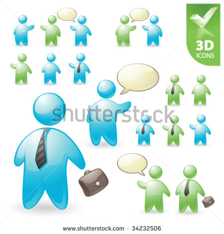 3D Vector Icons Person