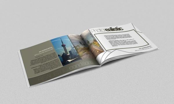 14 tabloid horizontal brochure mockups psd images tri for Horizontal brochure design