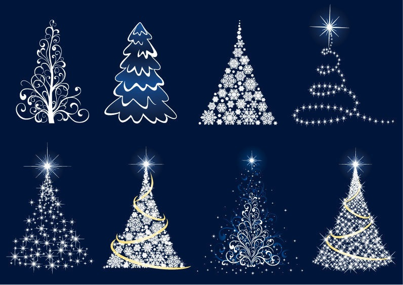 12 Contemporary Christmas Tree Vector Art Images - Modern ...