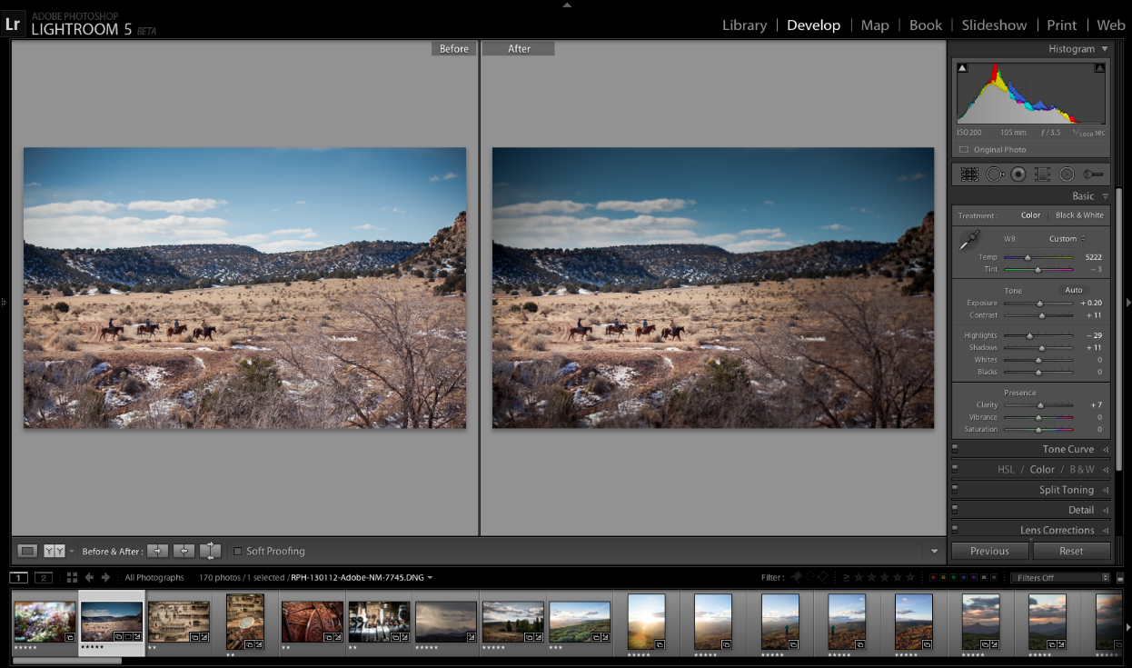 12 Adobe Photoshop Lightroom Screen Shot Images