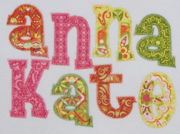 Anna Kate Applique Font