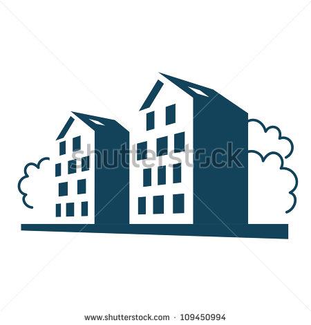 Apartment Building Icon Vector