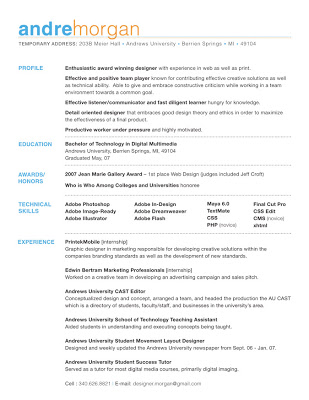 Best Graphic Designer Resume