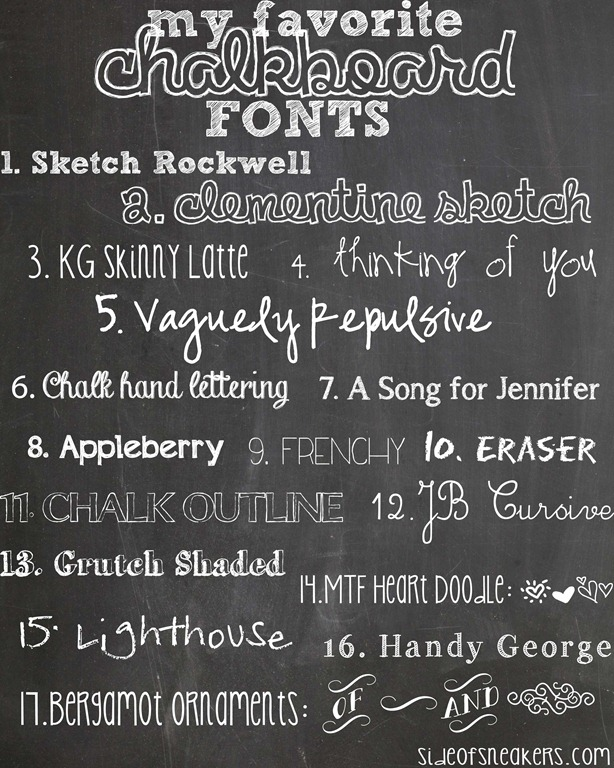 13 Chalkboard Fonts And Doodles Images