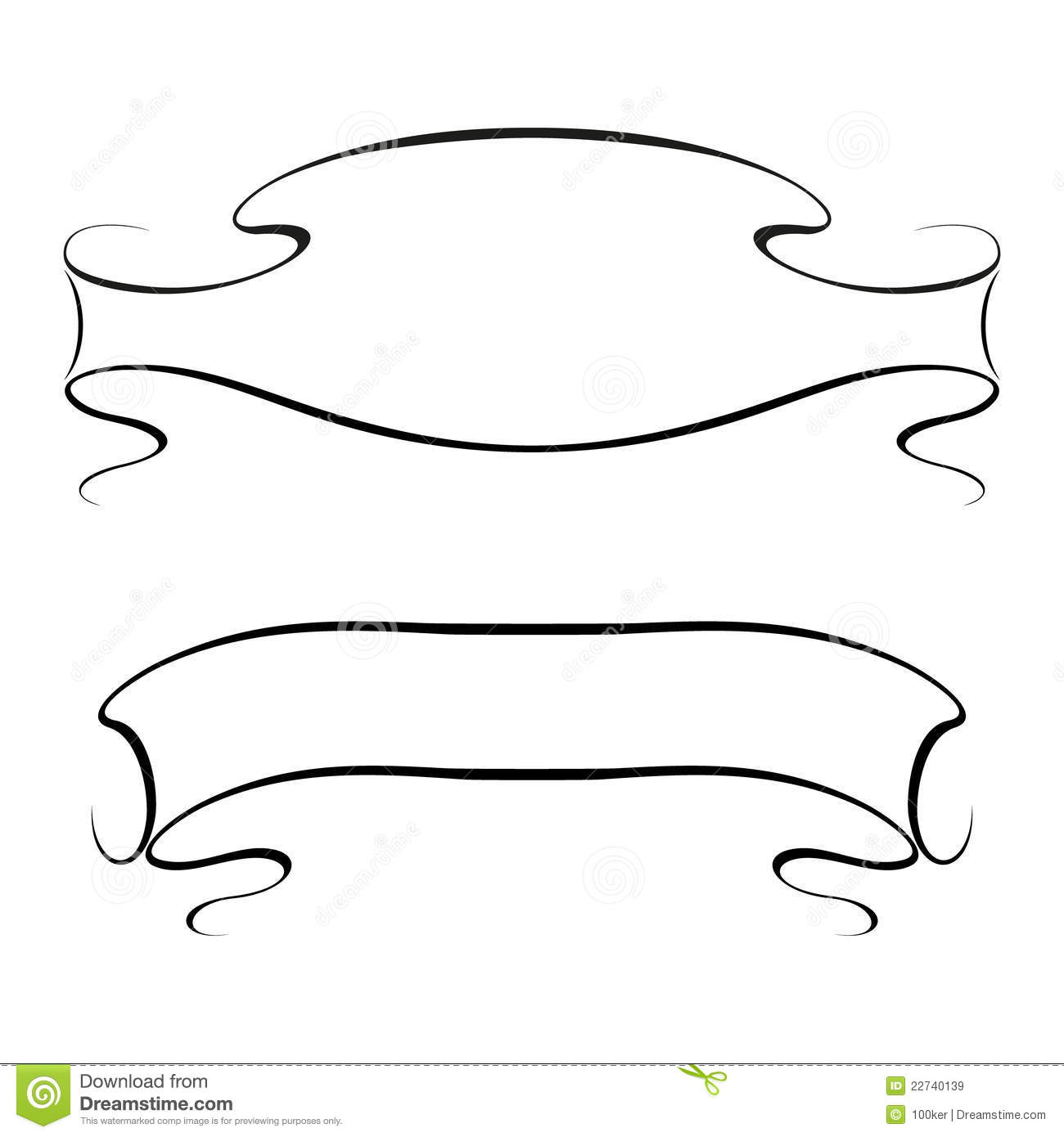 15 Simple Ribbon Vector Images - Ribbon Banner Vector Free ...