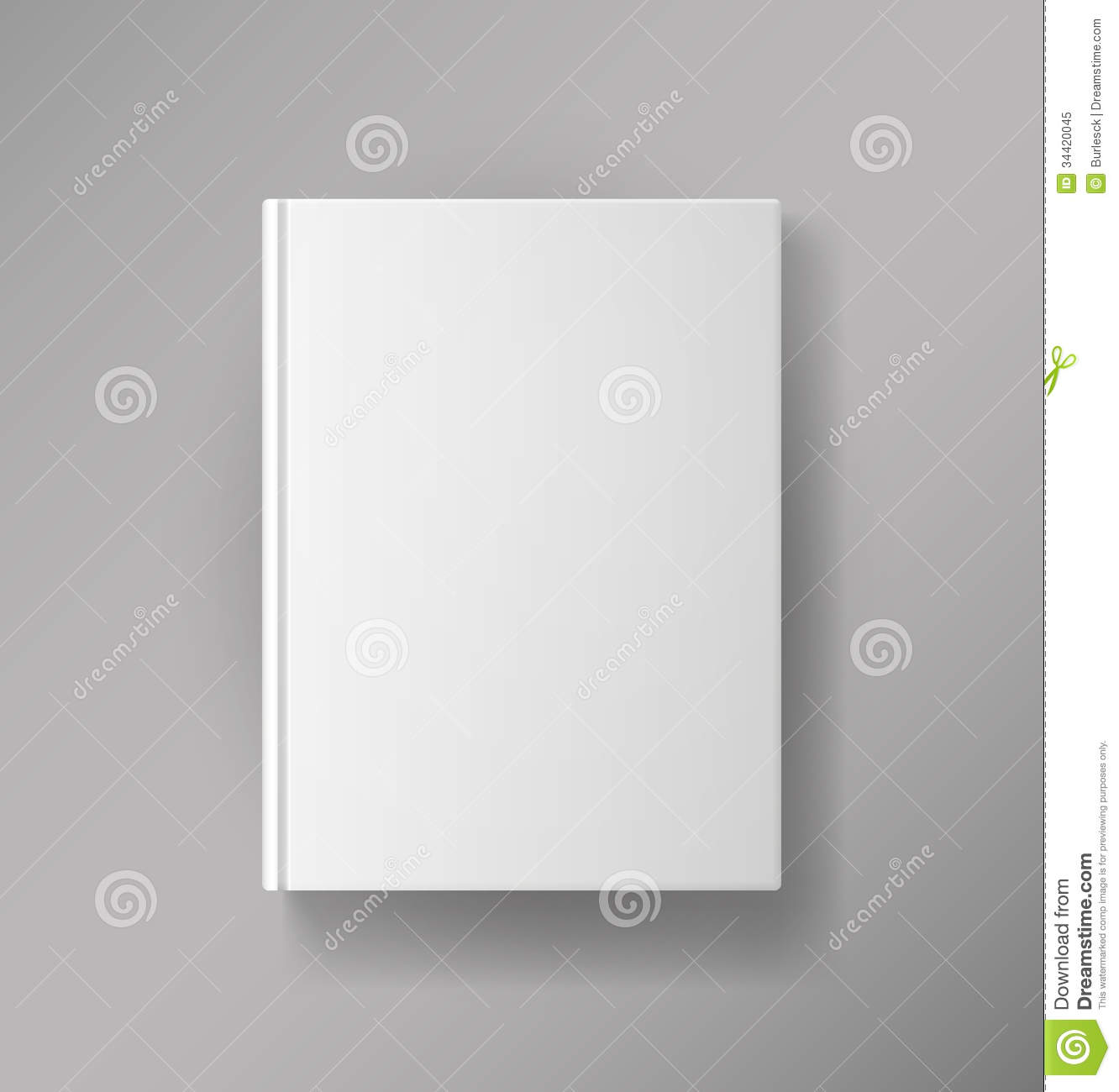 Blank Book Cover Template Free