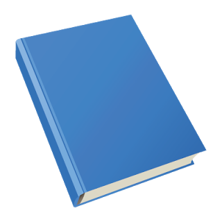 Blue Blank Book Cover