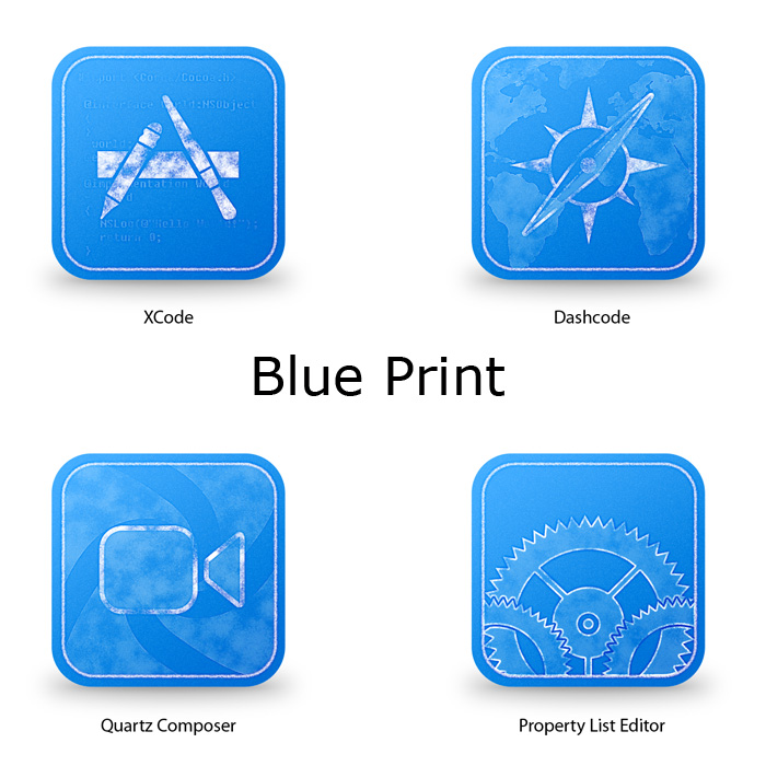 12 Blue Print Icon Images