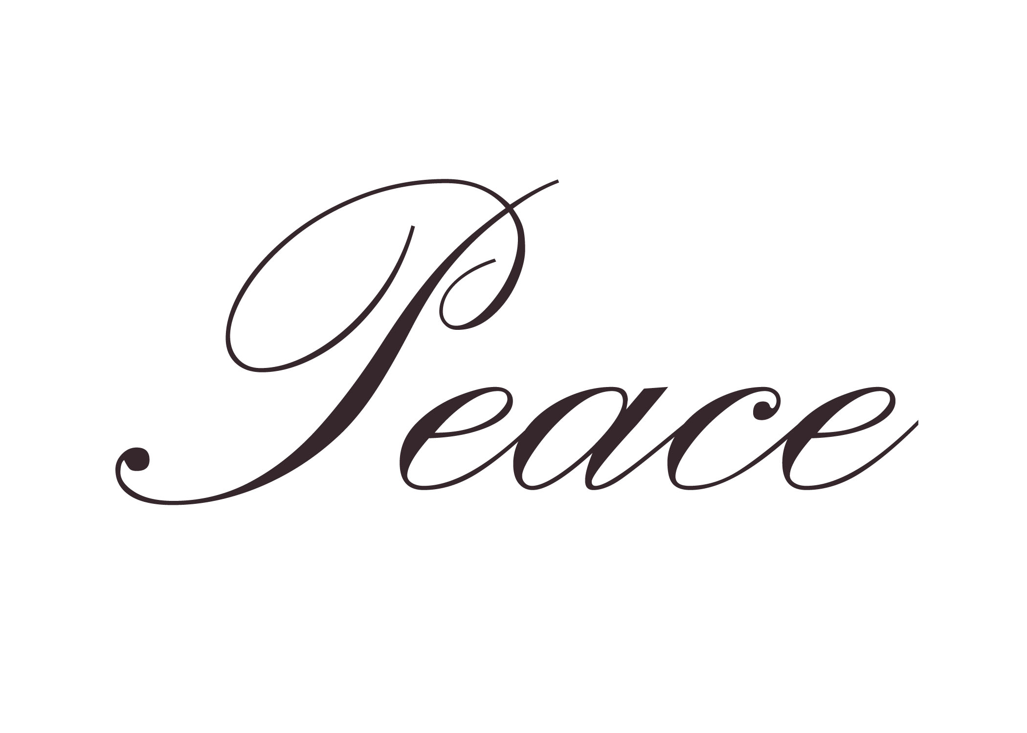 Bubble Letter Font for the Word Peace