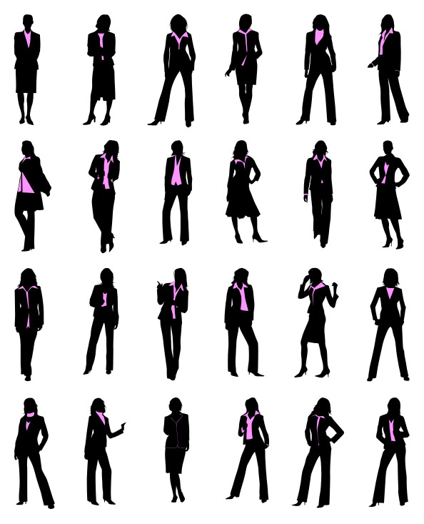17 Silhouette Businesswoman Icon Vector Free Images