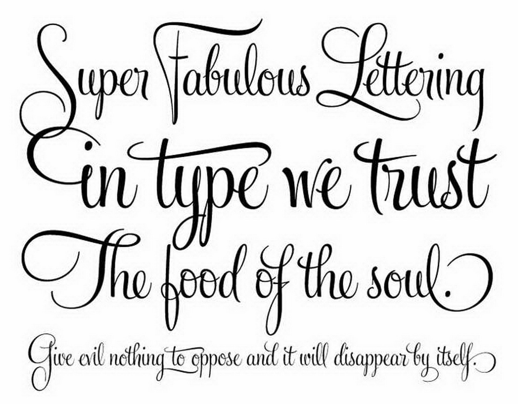 Calligraphy Tattoo Fonts