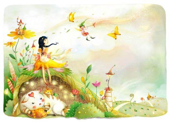 Cartoon Butterfly Clip Art Girl