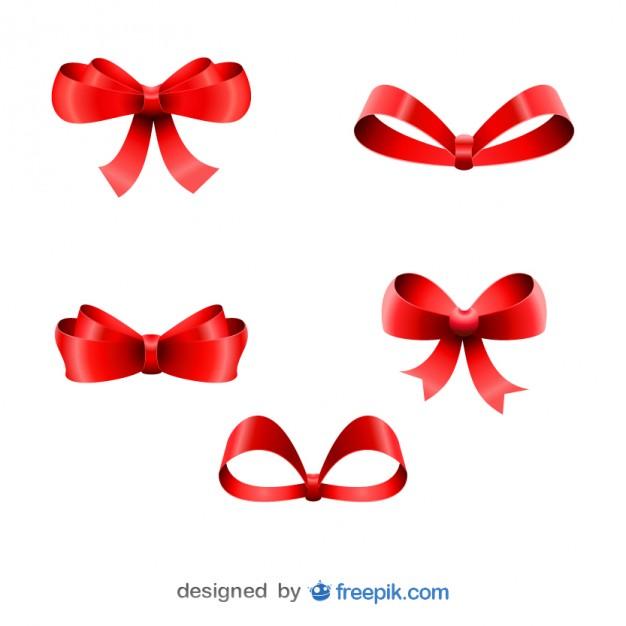 Christmas Bows Ribbons Vector Free