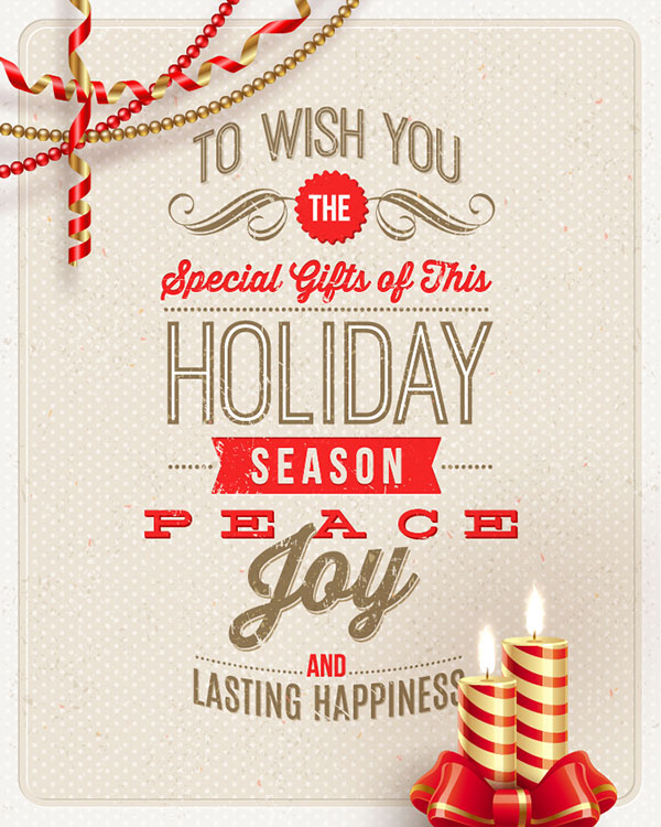 12 Happy Holidays Card Designs Images