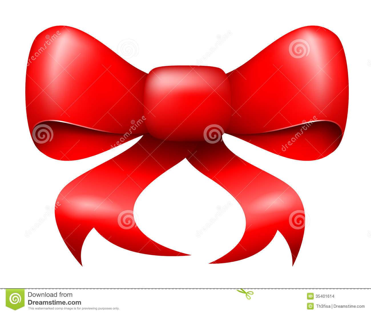 Christmas Ribbon Bow Vector
