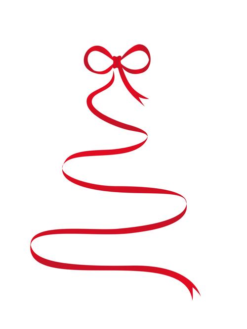 Christmas Ribbon Clip Art